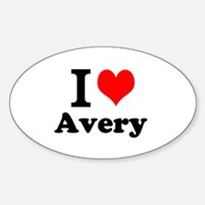 I Love Avery Decal