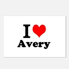 I Love Avery Postcards (Package of 8)