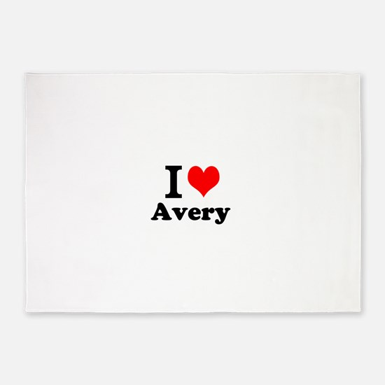 I Love Avery 5'x7'Area Rug