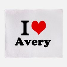 I Love Avery Throw Blanket