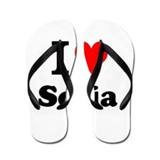 I Love Sofia Flip Flops