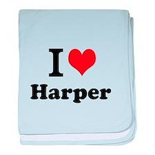 I Love Harper baby blanket