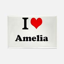 I Love Amelia Magnets