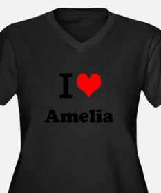 I Love Amelia Plus Size T-Shirt