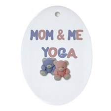 Mom & Me Yoga Oval Ornament