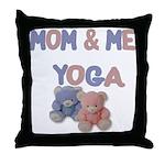 Mom & Me Yoga Throw Pillow