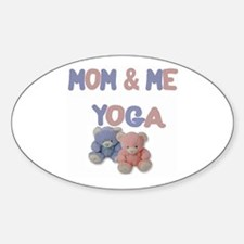 Mom & Me Yoga Oval Decal