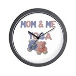 Mom & Me Yoga Wall Clock