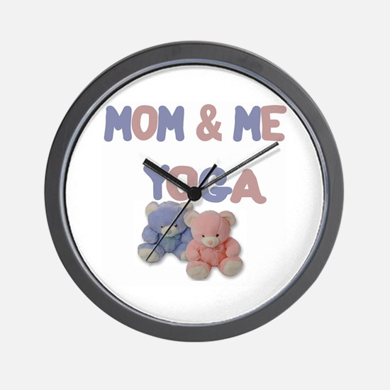 Mom & Me Yoga Wall Clock