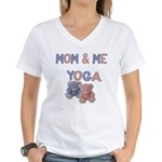 Mom & Me Yoga Women's V-Neck T-Shirt