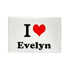 I Love Evelyn Magnets