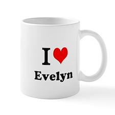 I Love Evelyn Mugs