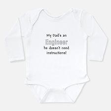 Cute Engineer Long Sleeve Infant Bodysuit