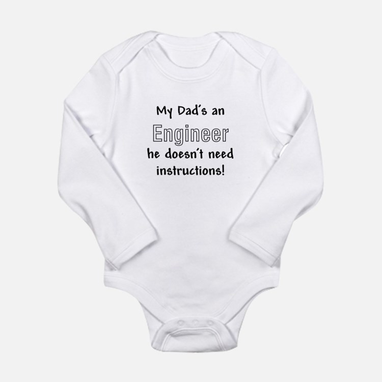 Cute Jokes Long Sleeve Infant Bodysuit