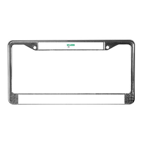 Green Soccer Logo License Plate Frame