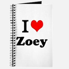 I Love Zoey Journal
