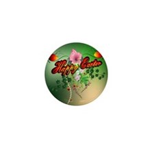 Happy easter with easter eggs Mini Button (100 pac