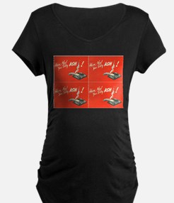 vintage silly ash valentines day Maternity T-Shirt