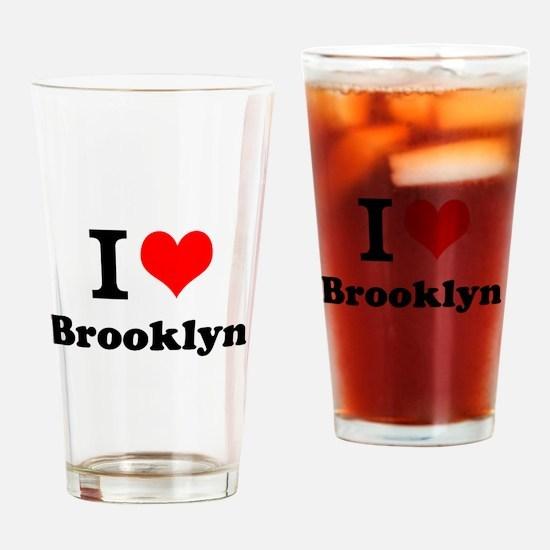 I Love Brooklyn Drinking Glass