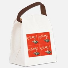 vintage silly ash valentines day Canvas Lunch Bag