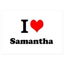 I Love Samantha Invitations