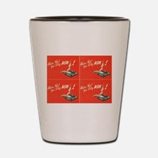 vintage silly ash valentines day red Shot Glass