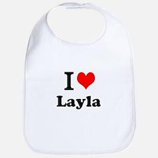 I Love Layla Bib