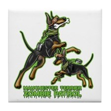Manchester Terrier Zombie Patrol Tile Coaster