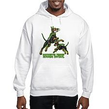 Manchester Terrier Zombie Patrol Hoodie Sweatshirt