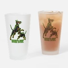 Manchester Terrier Zombie Patrol Drinking Glass
