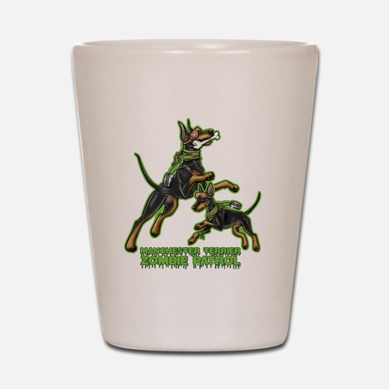 Manchester Terrier Zombie Patrol Shot Glass
