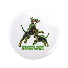 "Manchester Terrier Zombie Patrol 3.5"" Button"