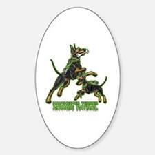 Manchester Terrier Zombie Patrol Decal