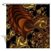 Cornucopia Fractal Shower Curtain