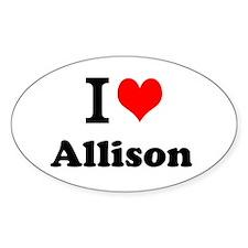 I Love Allison Decal