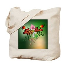 Happy easter with easter eggs Tote Bag