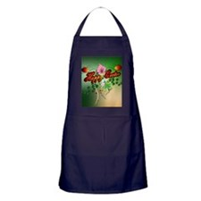 Happy easter with easter eggs Apron (dark)