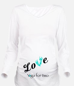 Yoga For Two Love Long Sleeve Maternity T-Shirt