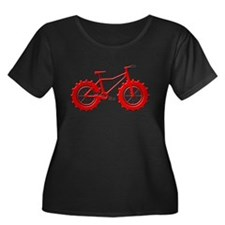 fat tire logo red imbossed Plus Size T-Shirt
