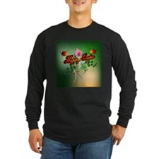 Happy easter with easter eggs Long Sleeve T-Shirt
