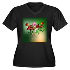 Happy easter with easter eggs Plus Size T-Shirt