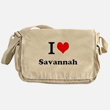 I Love Savannah Messenger Bag