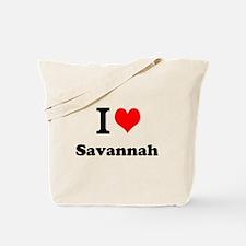 I Love Savannah Tote Bag