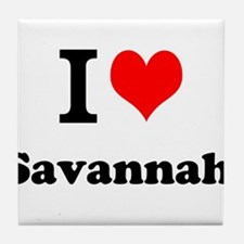 I Love Savannah Tile Coaster