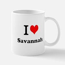 I Love Savannah Mugs