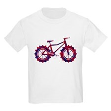 fat tire logo blue and red fire T-Shirt