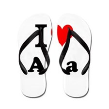 I Love Aria Flip Flops