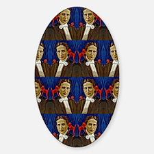harry houdini devils red blue Sticker (Oval)