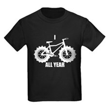 fat tire logo white All Year T-Shirt