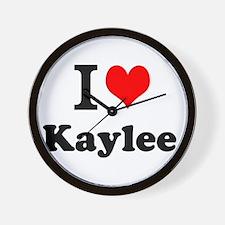 I Love Kaylee Wall Clock